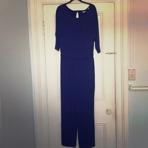 New York & Company Stretch Navy Jumpsuit, size XL